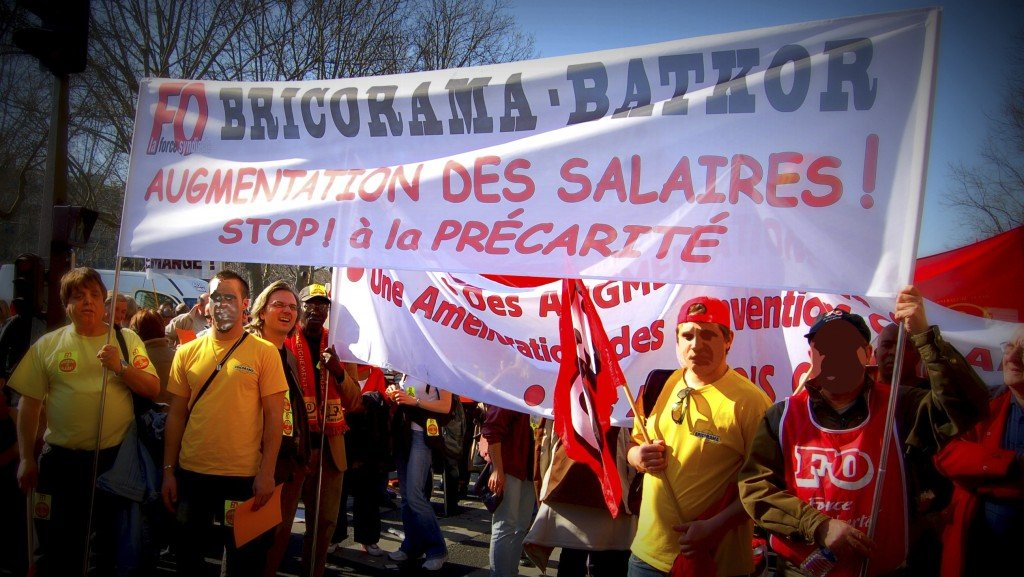 Manifestation de salari s de bricorama l appel de fo et - Bricorama paris 13 ...